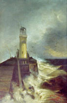 Walter Leistikow - Mole with Lighthouse
