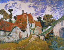Vincent van Gogh - Dorfstraße in Auvers