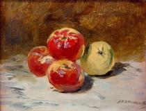 Edouard Manet - Four apples