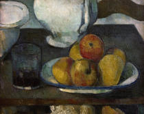 Paul Cézanne - Stilllife with apples and wine glass