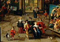 Frans Francken II - Gallery of a collector,detail of 40-05-0