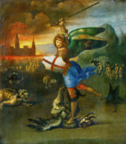 Raffael - The Archangel Michael fighting with the dragon