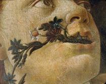 Sandro Botticelli - Head of the goddess Flora. Detail of Pri
