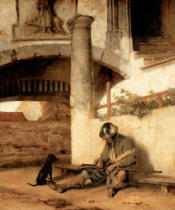 Carel Fabritius - The sleeping sentinel. Oil (1654) Staatl