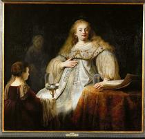 Harmensz van Rijn Rembrandt - Sophonisbe receives poisoned cup on the order of her husband Masinissa