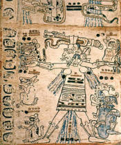 Codex Troana Cortesianus Maya-Kultur - Codex Troana Cortesianus:Göttin d.Sturms