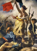 Eugène Delacroix - Liberty Leading the People / detail II