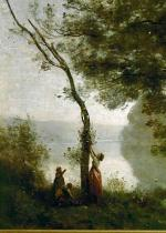 Camille Corot - Tree and woman. Souvenir of Mortefontain