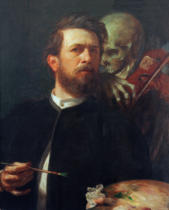Arnold Böcklin - Self-Portrait with Death/1872
