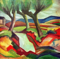 August Macke - Weide am Bach