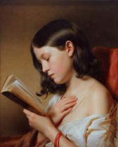 Franz Eybl - Girl reading