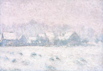 Claude Monet - Effet de neige à Giverny (Schnee in Giverny)