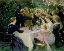 Peter Severin Krøyer - Hip Hip Hurrah! Artists' Party at Skagen, 1888