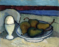 Paula Modersohn-Becker - Stilllife with pears and egg cup