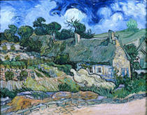 Vincent van Gogh - Strawroofed houses in Cordeville