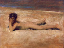 John Singer Sargent - A Nude Boy on a Beach
