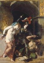 William Etty - Britomartis Redeems Faire Amoret