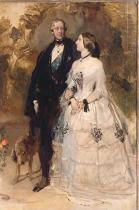 Sir Edwin Henry Landseer - The Duke of Devonshire with Lady Constance Grosvenor