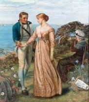 Arthur Hughes - The Sailing Signal Gun. For England, home, and beauty