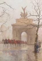 Rose Maynard Barton - Hyde Park Corner, with Household Cavalry