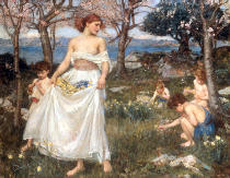 John William Waterhouse - A Sonf of Springtime