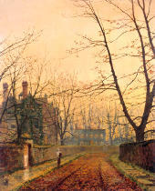 John Atkinson Grimshaw - Hampstead-Autumn Gold