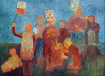 Paula Modersohn-Becker - Children with Lanterns
