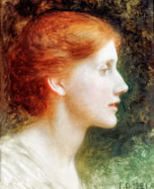 Sir Frank Dicksee - Portrait of Agnes Mallam (Mrs. Edward Foster)