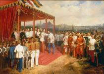 Anton Straßgeschwandthner - The Young Emperor Franz Joseph Awarding his Generals and Officers with Medals for the 1848 War