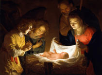 Gerrit van Honthorst - Adoration of the Child