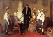 AKG Anonymous - Emperor Franz Josef Visits Countess Seefried and her Family