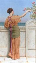 John William Godward - A Choice Blossom