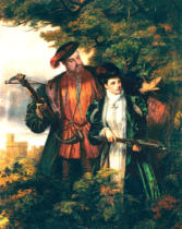 William Powell Frith - Henry VIII & Anne Boleyn Deer Shooting in Windsor Forest