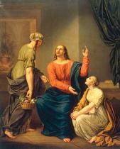 Joseph August Stark - Christ with Mary and Martha