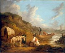 George Morland - The Smugglers