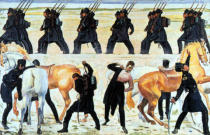 Ferdinand Hodler - Students of Jena in the fight for freedom against Napoleon 1813