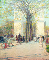 Childe Frederick Hassam - Washington Arch, spring