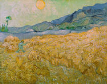 Vincent van Gogh - Wheatfield with Reaper, Setting Sun