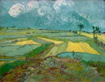 Vincent van Gogh - Wheatfields in Auvers with rainclouds