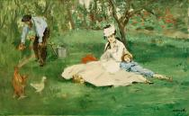Edouard Manet - Family Monet in their garden in Argenteuil