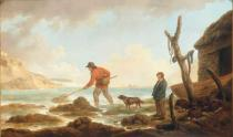 George Morland - Shrimping near Yarmouth, Isle of Whigt