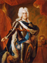 Werkstatt des Louis de Silvestre - Portrait of Augustus II, King of Poland wearing Armour & the Insignia of the Orders of the Golden Fleece & the Polish White Eagl