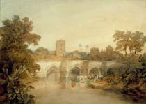 Joseph Mallord William Turner - Bromfield on the River Onny, near Ludlow, Shropshire