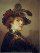 Harmensz van Rijn Rembrandt - Self Portrait in Fancy Dress, 1635-36