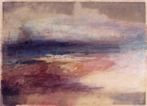 Joseph Mallord William Turner - Coastal View at Sunset