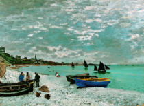 Claude Monet - Strand in Sainte-Adresse, Normandie, 1867