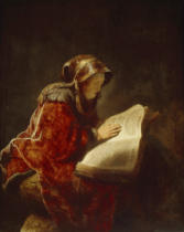 Harmensz van Rijn Rembrandt - The prophetess Anna or the artist's mother