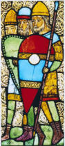 12. Jahrhundert - Knight / Stained glass / c.1160