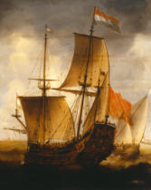 Jacob Adriansz Bellevois - A Dutch Galleon and Other Coastal Vessels