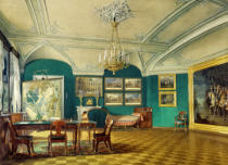 Eduard Petrowitsch Hau - Gatchina Palace / Office / Watercolour